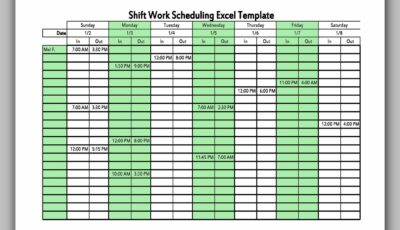Dupont Shift Schedule 08