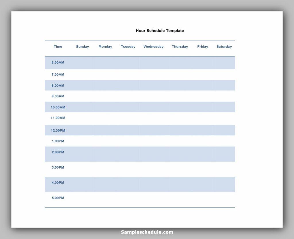 Hourly Schedule Template 27