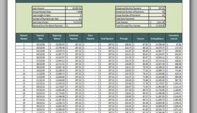 Loan Amortization Schedule 02