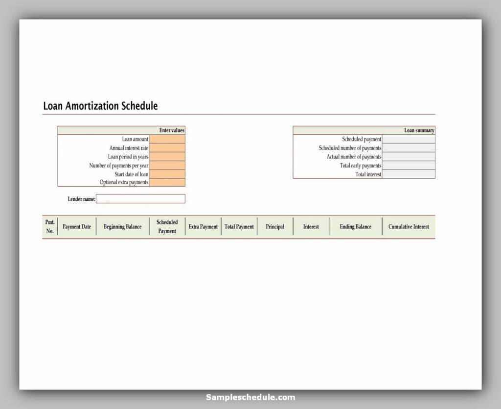 Loan Amortization Schedule 14