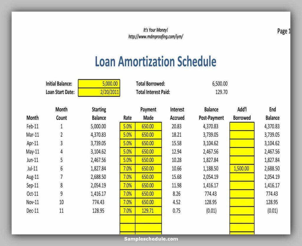 Loan Amortization Schedule 24