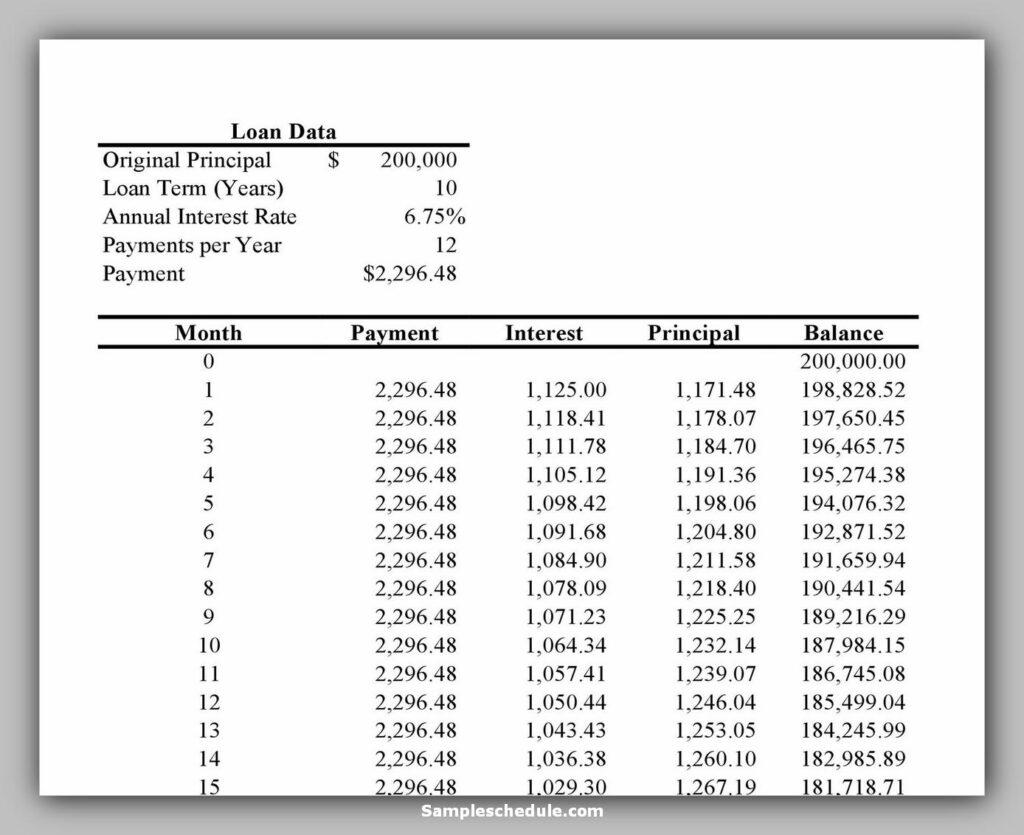 Loan Amortization Schedule 25