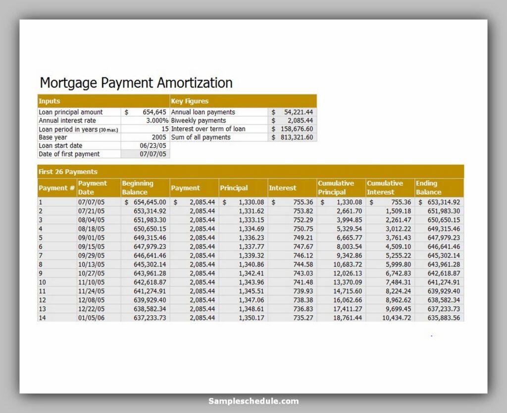 Loan Amortization Schedule 26