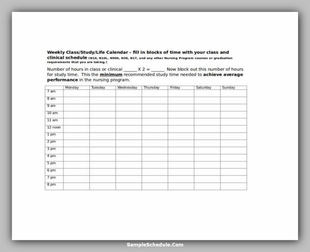 Nurse Schedule Template 02