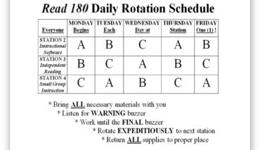 Rotation Schedule Template 02