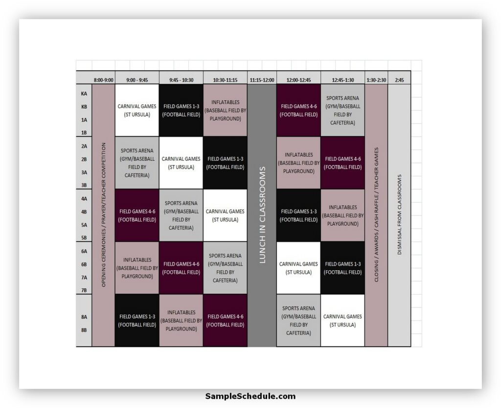 Rotation Schedule Template 06