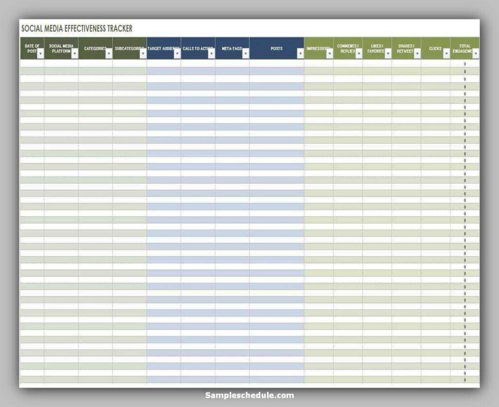 social media schedule template 08