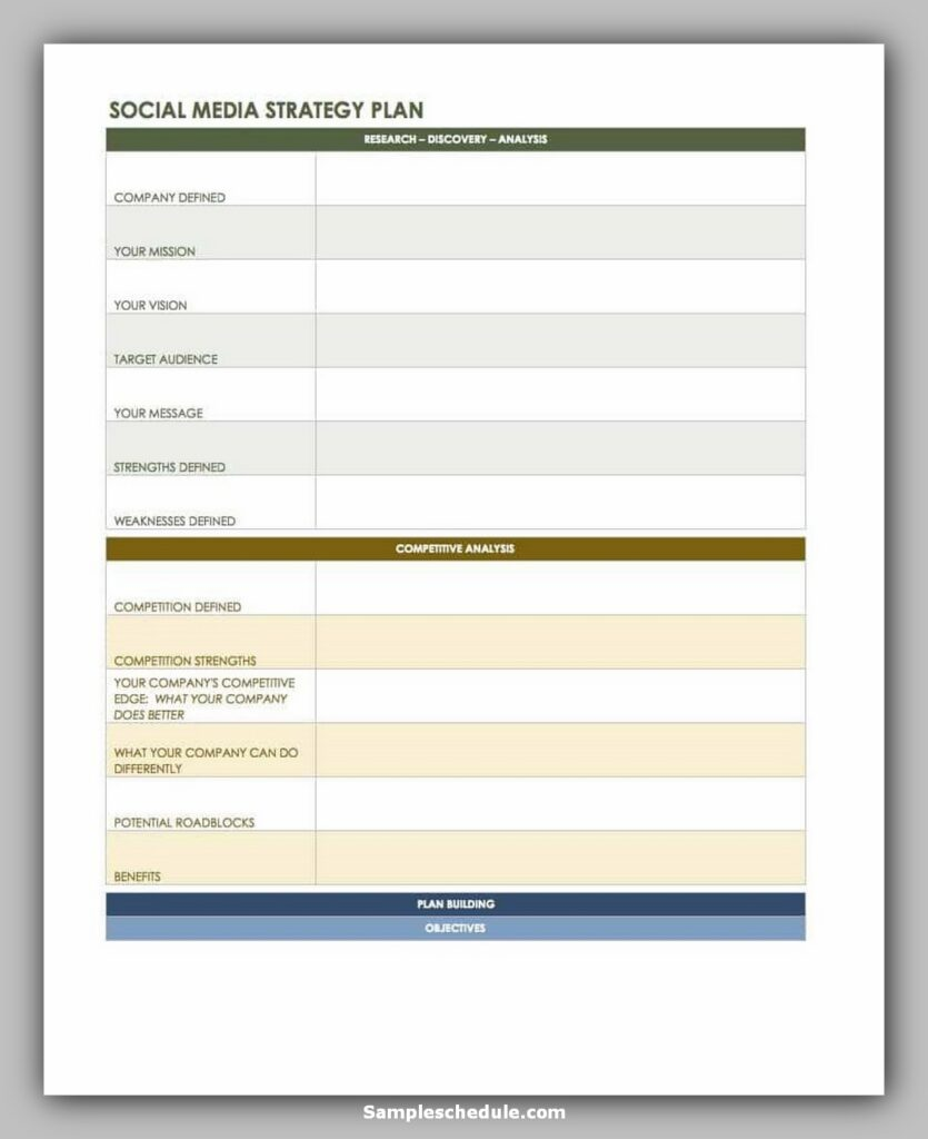 social media schedule template 10