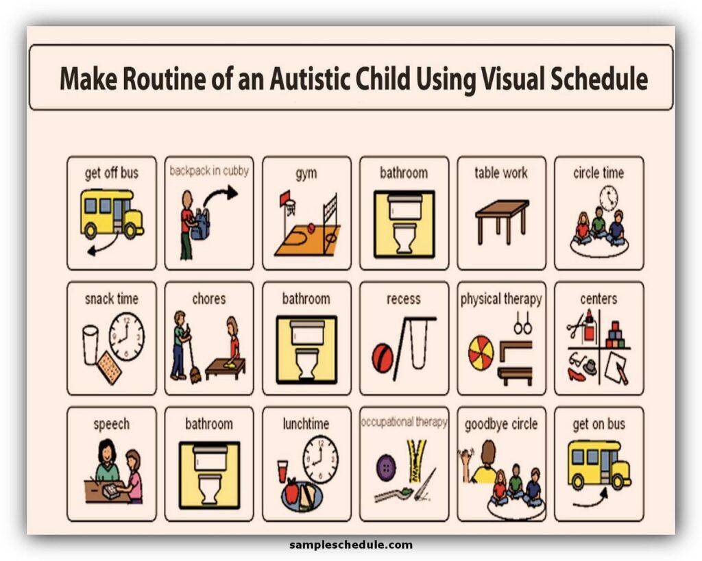 Autism Visual Schedule