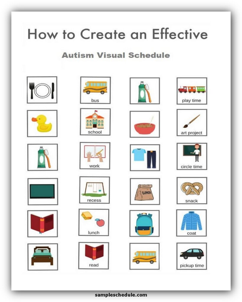 How to create a visual schedule