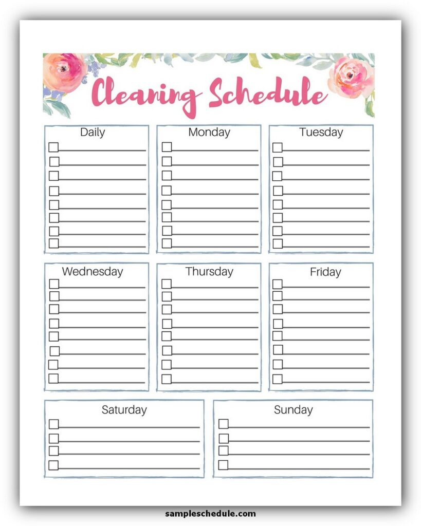 Professional House Cleaning Checklist Template 08