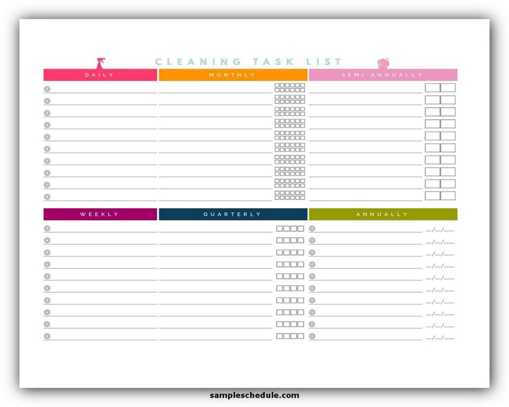 Professional House Cleaning Checklist Template 09