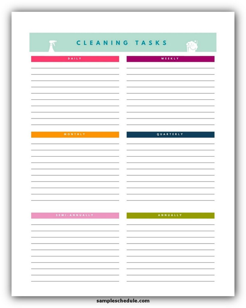 Professional House Cleaning Checklist Template 10
