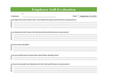 Employee self evaluation Feratured