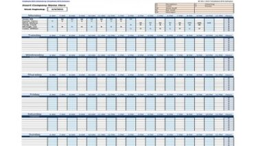 Employee work schedule template monthly Featured