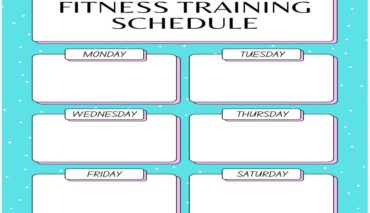 Weekly Fitness Training Schedule