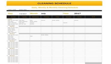 Free Printable Cleaning Schedule Template Featured