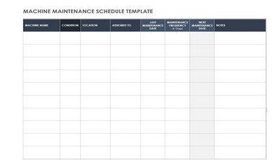 Machine Maintenance Schedule Featured
