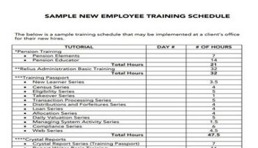 Training Schedule For Employees Featured