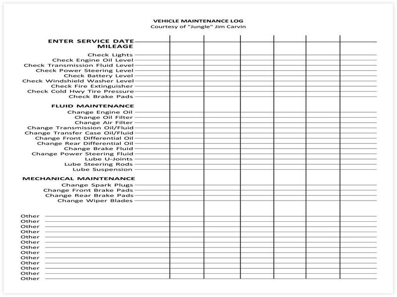 Vehicle Maintenance Schedule template 11