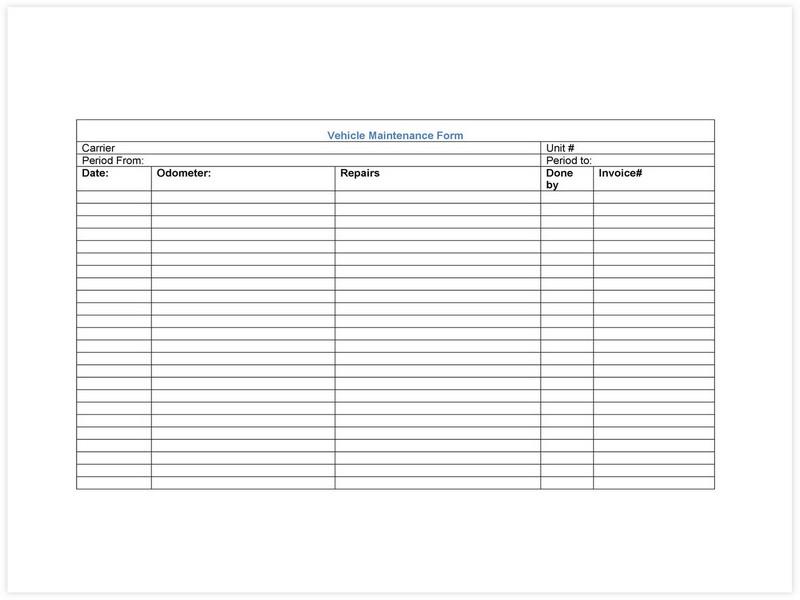 Vehicle Maintenance Schedule template 15