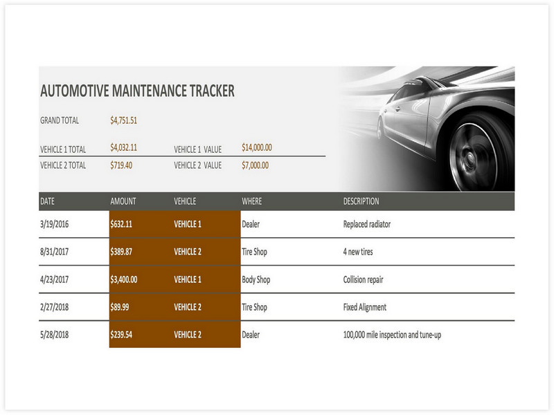 Vehicle Maintenance Schedule template 20