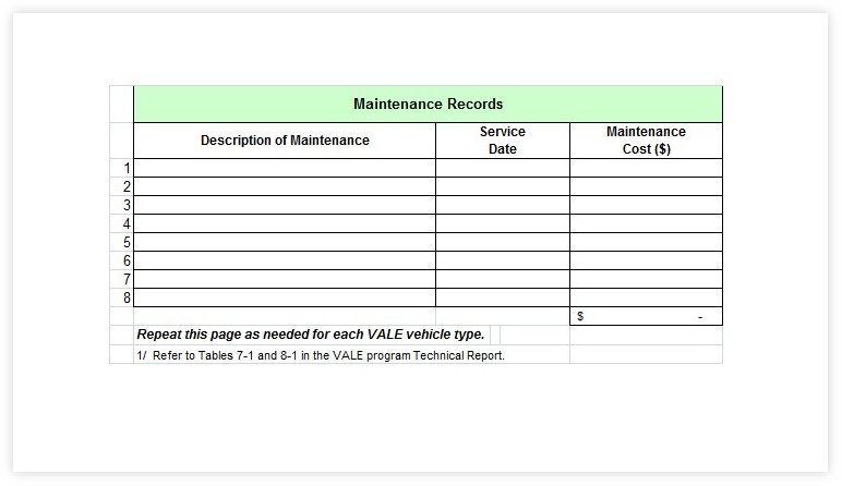 Vehicle Maintenance Schedule template 21