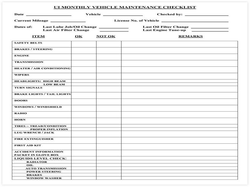 Vehicle Maintenance Schedule template 22