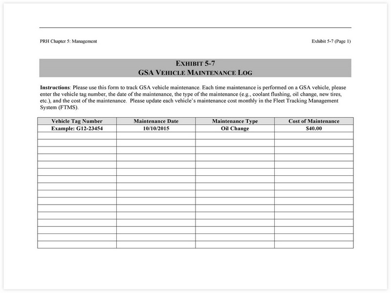 Vehicle Maintenance Schedule template 27