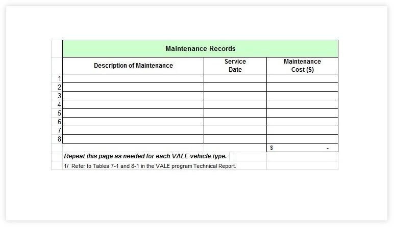 Vehicle Maintenance Schedule template 35